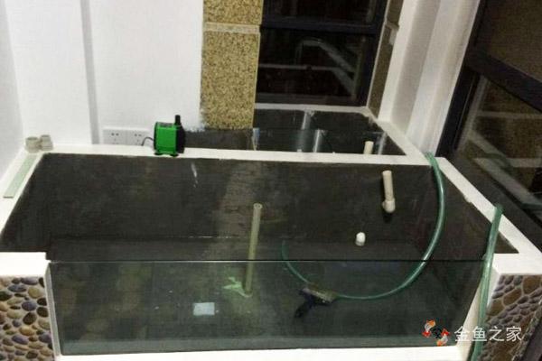 阳台鱼池整体基本竣工